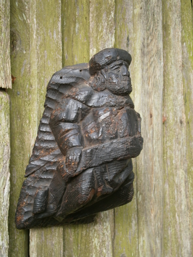 An English Medieval Oak Cobel Depicting A Prophet