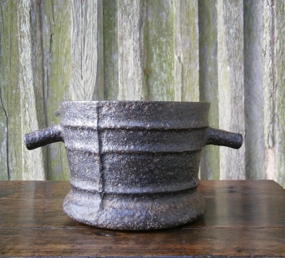 Early 17th Century English Iron Mortar