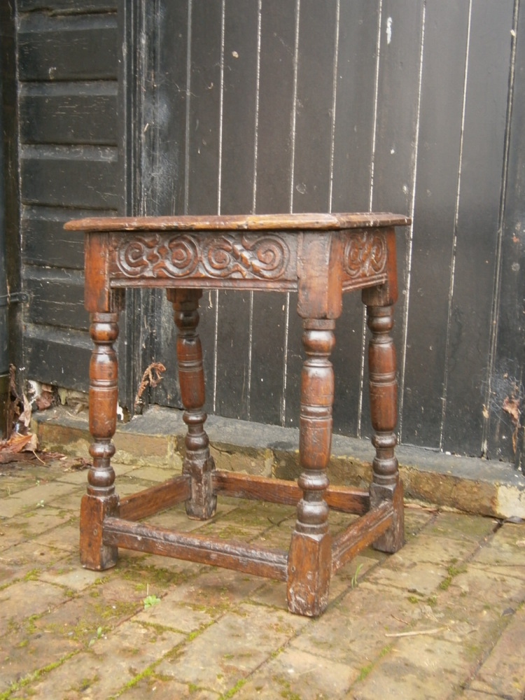 A 17th Century Oak Joined Stool