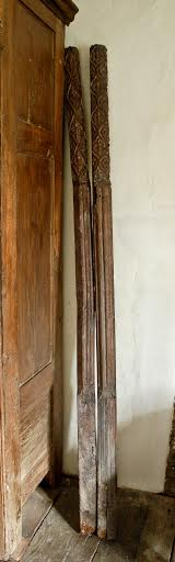 A Rare Pair Of English Henry VIII Period Tudor Bed Posts From The Roger War