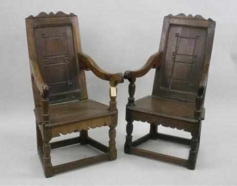 PAIR OF WAINSCOT CHAIRS
