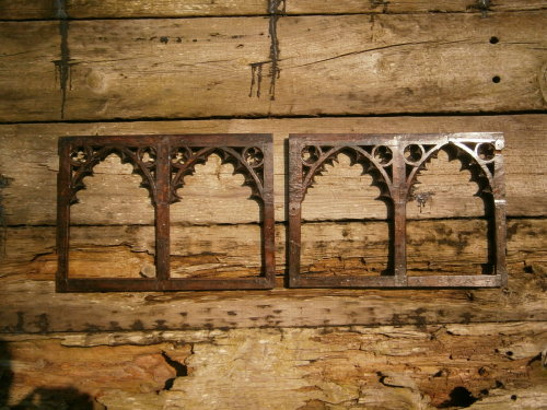 A Rare Pair Of 15th Century English Carved Oak Tracery Panels