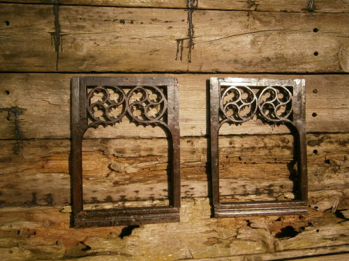 A Pair Of English Gothic Oak Pierced Tracery Panels