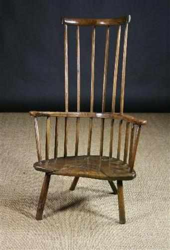 primitive chair high back