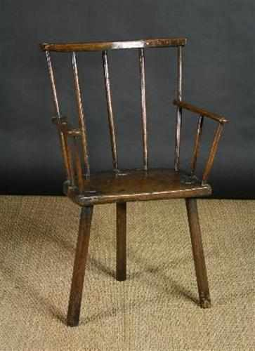 primitive chair three legs