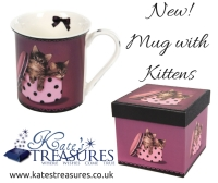 Beautiful purple Mug with kittens