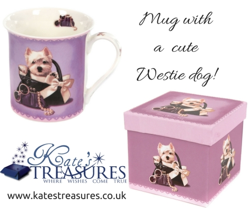 Mug with Westie dog in a handbag