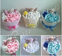 1 Tier Nappy Cakes