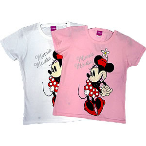 DISNEY MINNIE MOUSE T SHIRT size 9/11 PINK