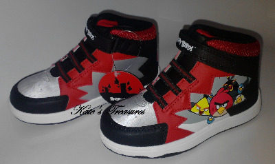 Angry Birds Swarm Hi Top Trainers Boots size 1 UNISEX