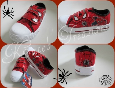 SPIDER-MAN SPIDEY SENSE Canvas Trainers size 1