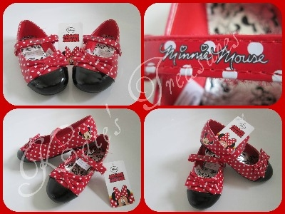 MINNIE MOUSE HOLIDAY shoes size 7 (toddler)