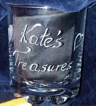 1st glass engraved