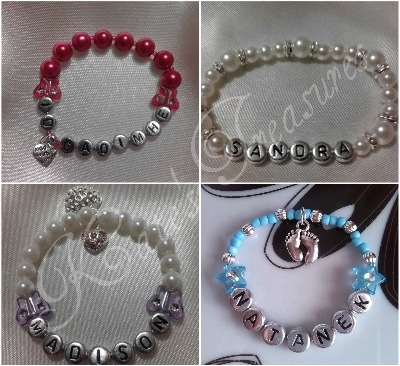 Personalised Baby/child keepsake bracelet