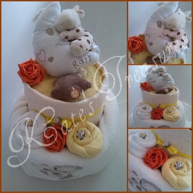 unisex 2 tier nappy cake