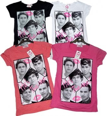 One Direction T shirt for girl age 9/10 in Cerise.