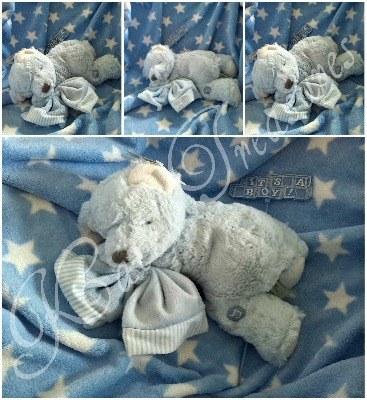Blue Hug-a-Boo Musical Bear for baby boy by Suki Gifts