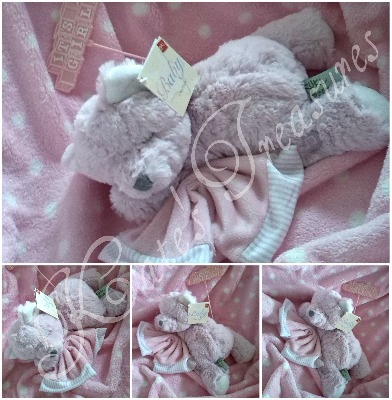 Pink Hug-a-Boo Musical Bear for baby girl by Suki Gifts