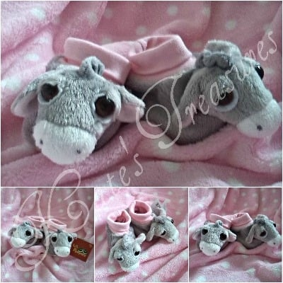 Luna Pink Donkey Booties for 0-10 months baby girl by Suki Gifts