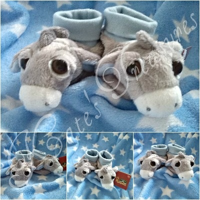 Pablo Blue Donkey Booties for 0-10 months baby boy by Suki Gifts
