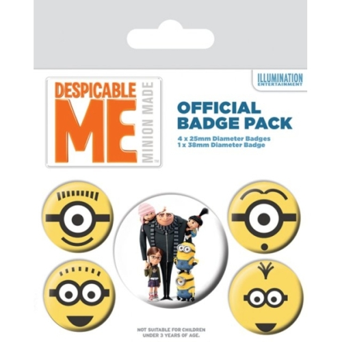 Despicable Me Badge Pack Minions Set of 5