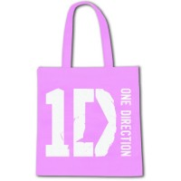 1D eco shopper bag in pink and blue