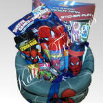 gift hamper for boy spiderman theme