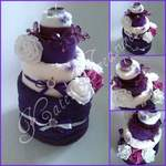 purple towel cake1