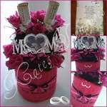 mr&mrs wedding towel cake gift
