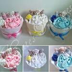 mini hearts nappy cakes boy_girl_unisex