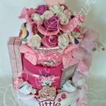 3 tier Luxury Nappy Cake_baby girl