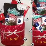 towel cake football theme liverpool inspired