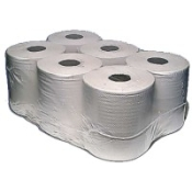 2ply - White Centrefeed rolls - 6 x 150m