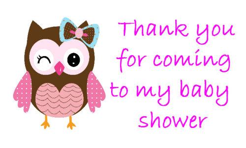 Cute Baby Owl pink