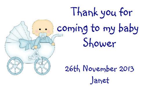 Baby Shower Blue Pram