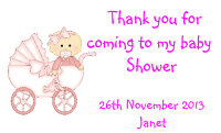 Baby shower Pink pram
