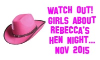 Pink Cow-girl Hat Hen Night