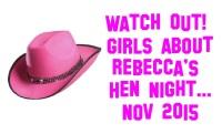 Pink Cow-girl Hat Hen Night