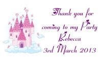 Princess Castle Party Bag labels
