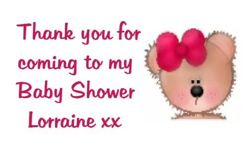 Cute Girl Teddy Baby Shower