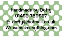 Polka Dot Designs 63mm x 38mm in Green
