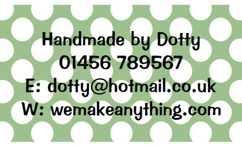 Polka Dot Designs 63mm x 38mm in Green