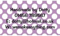 Polka Dot Designs 63mm x 38mm in Lilac