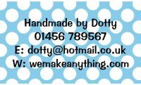 Polka Dot Designs 63mm x 38mm in Blue
