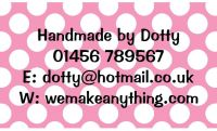 Polka Dot Designs 63mm x 38mm in Pink