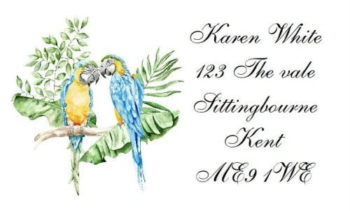 Twin Macaws  Design 302