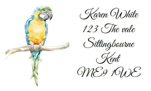 Macaw  Design 303 42 label set