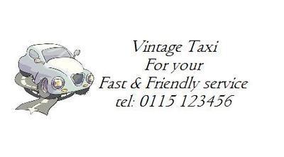 Vintage Taxi Design No. 85