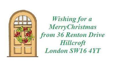 Christmas Door Design No. 128