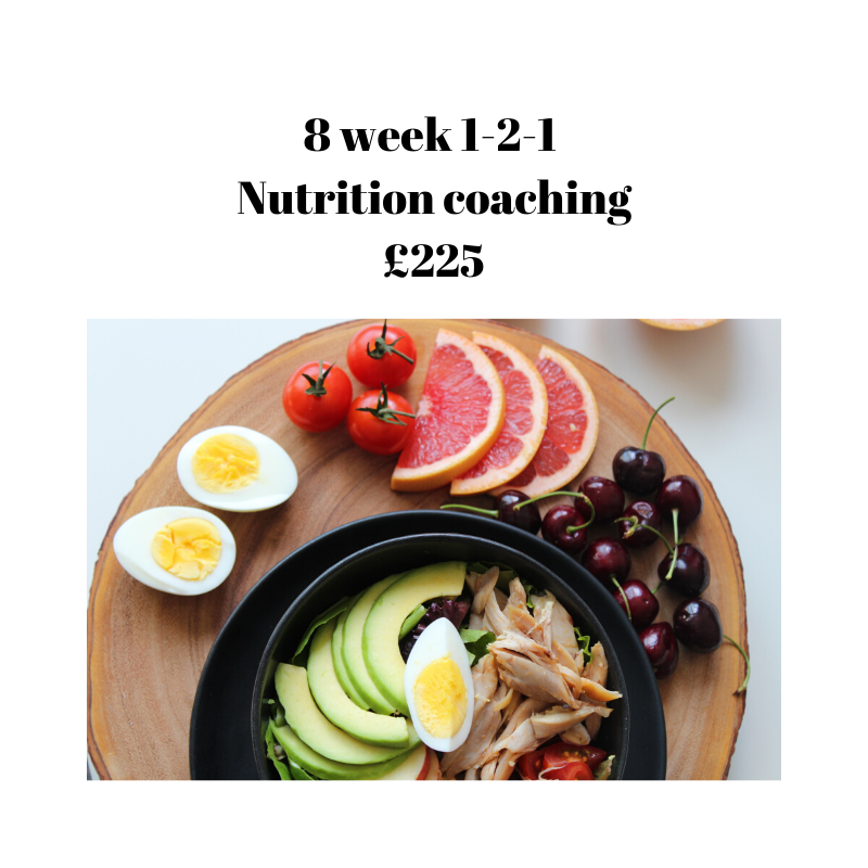 one - to- one nutrition coaching 8 week plan